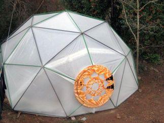 Geodesic Dome Greenhouse with custom door