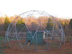 24' Geodesic Chicken Shelter