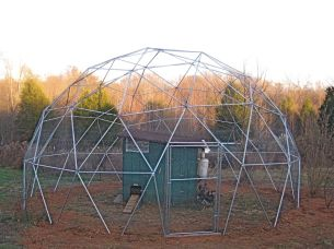 24' Geodesic Chicken Shelter