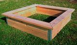 4x4 Deluxe Cedar bed with Trim.