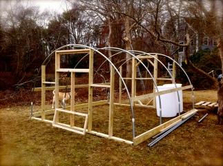 Back of Greenhouse Frame