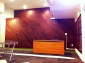 Diagonal Wood Feature Wall